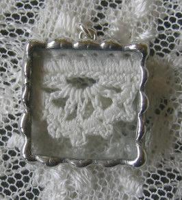 Vintage Crochet  Lace Charm